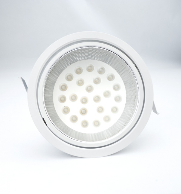 flood beam angle, own light with integrated power supply, round panel light, wide beam angleam Angle